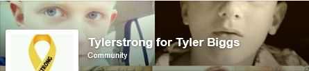 We received a message today asking us to share the page of brave #ChildhoodCancer Warrior, Tyler, who has an inoperable Pilocytic Astrocytoma but would like more likes on his page.   He is lonely. I wanted to ask if you could please share his page, so he can make new friends and get more attention brought to this tumor. We would be forever gracious!   Thank you  Amanda and Tyler  https://www.facebook.com/pages/Tylerstrong-for-Tyler-Biggs/529194503847867
