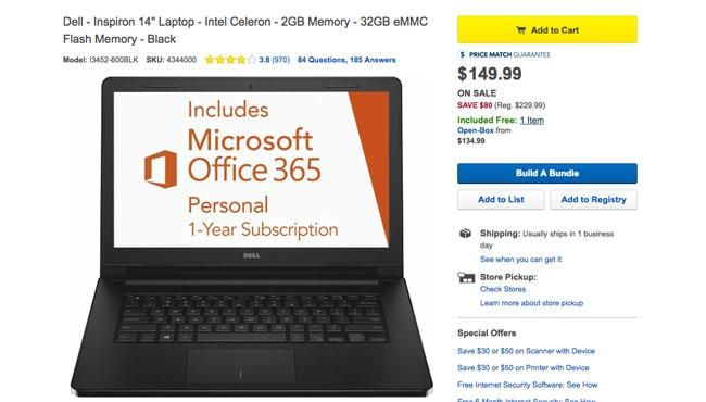 Best Buy Laptop Deal Shows It Is Not Black Friday Yet