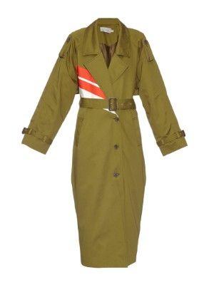 Warwick stripe cotton coat | Preen By Thornton Bregazzi | MATCHESFASHION.COM US