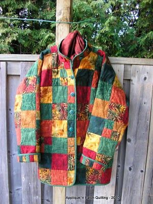 Applique 'n Patch Quilting: Autumn Jacket - love this jacket, now I just need a pattern!