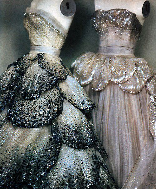 Christian Dior Gown Details, circa 1949. Photographer: Sheila Metzner for American Vogue December 1986.