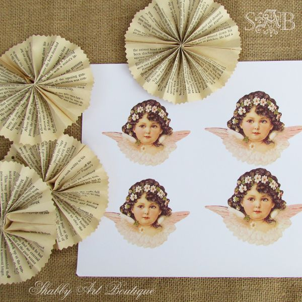 Shabby Art Boutique: Victorian Angel Ornaments