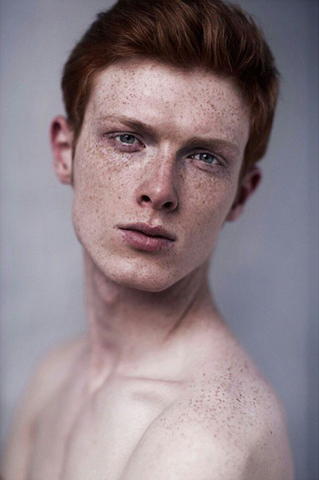 This would be a good Blake, except with darker, more brown hair. I dont see him as a redhead with fair skin; he spends far too much time outdoors for that. He is tanned with freckles and sunspots and that make his hazel eyes pop and look especially fiery in the sunlight.  // Linus Wordemann by Hadar Pitchon - for-redheads