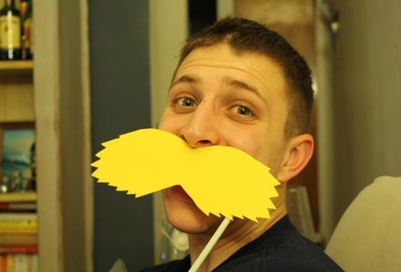 Have kids create their own Mustache crafts for pre-movie fun - Southern Outdoor Cinema expert tip for theming and enhancing an outdoor movie event.