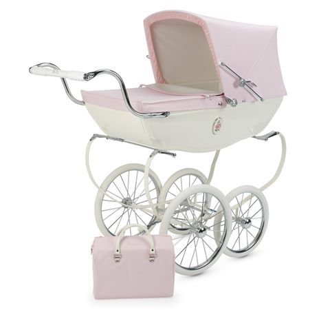 luxury doll pram to store small toys, stuffed animals and baby dolls.  much more posh than traditional toy box. #brattdecor I had a dolls pram like this in navy.