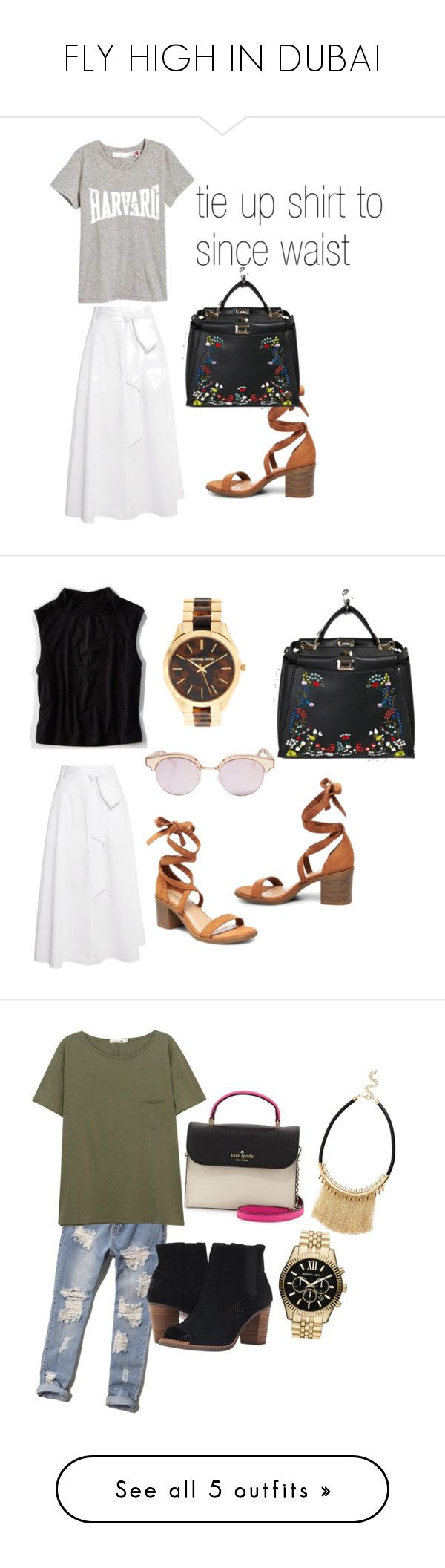 """FLY HIGH IN DUBAI"" by tasyajane on Polyvore featuring TIBI, Forever 21, Le Specs, Michael Kors, American Eagle Outfitters, Abercrombie & Fitch, Kate Spade, rag & bone/JEAN, TOMS and MICHAEL Michael Kors"