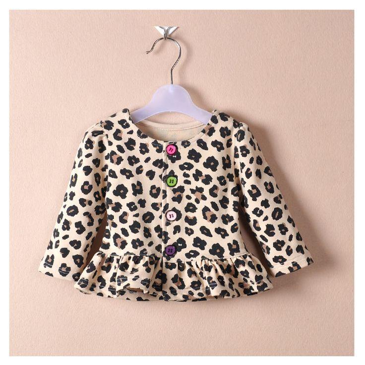 roupa do bebê meninas mola outono Revestimento do bebê de crianças jaquetas 0-2 anos meninas cardigan princesa estampa de leopardo jaqueta casaco infantil