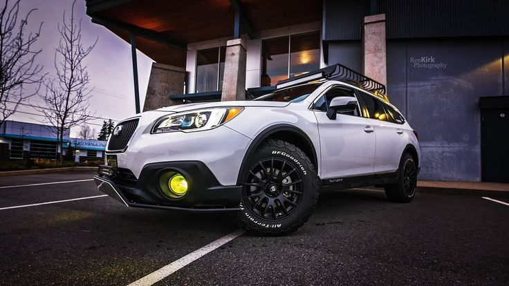 Make: Subaru Model: Outback 3.6R Limited Package Year: 2017 Color: Crystal White Pearl Modifications: Tires: 245/65R17 BFGoodrich All Terrain T/A KO2 Wheels: Motogei MR118 Skid plate: LP Aventure Bumper Guard: LP Aventure (small model) LED bar: RTXline 31.5