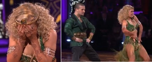 DWTS Katherine Jenkins Suffers Back Spasm During Sexy Salsa: VIDEO