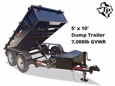 2017 New 5 x 10 Bumper Pull Dump Trailer 7k gvwrheavy equipment trailers apply now www.bncfin.com/apply