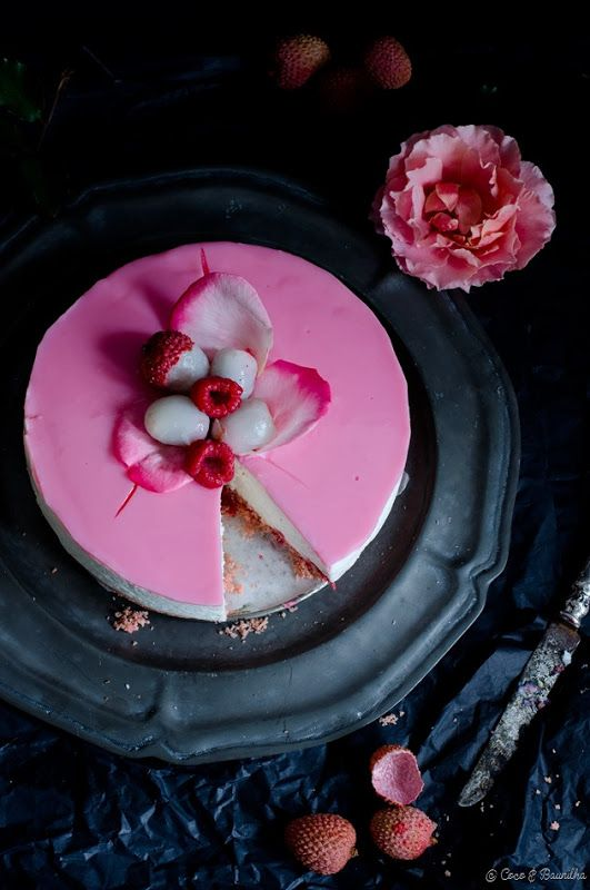 Cheesecake Ispahan - líchia, rosa e framboesa