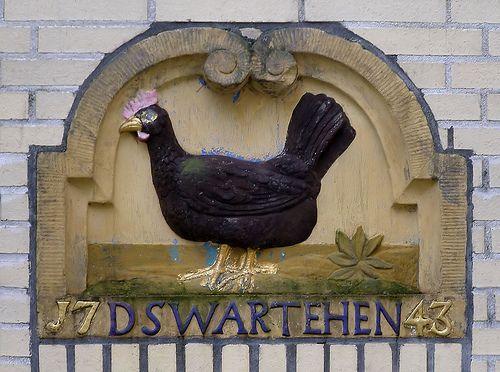 Gevelsteen D SWARTE HEN | De Cuserstraat 13, Amsterdam | Flickr