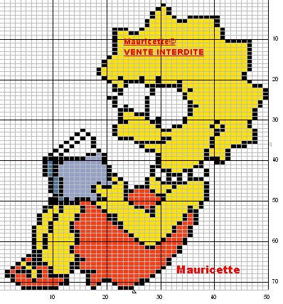 Lisa Simpson  hama perler beads pattern by Mauricette