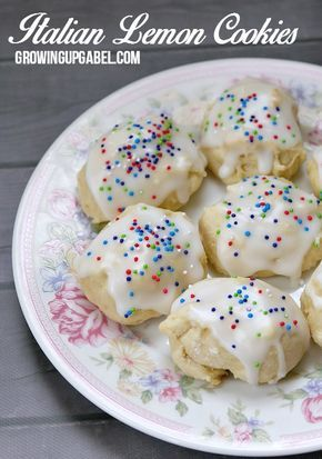 Italian lemon cookies are easy cookie recipe that's perfect for spring. These drop cookies are glazed with an easy lemon frosting recipe and are the perfect soft, chewy lemon cookie.  via @camillegabel