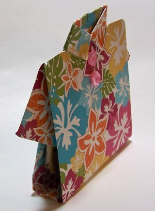 stampin up paper shirt | Origami Tropical Shirt Card Video Tutorial