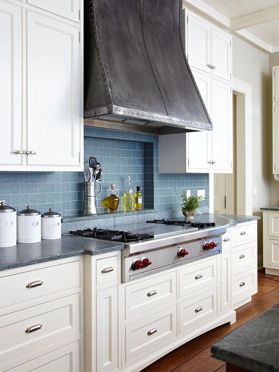 Countertop Stove Vent : Tile, vent hood, stove top and cabinets under. Kitchen Ideas ...