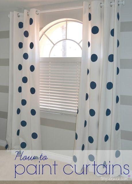 Chalk Paint Curtain Pole