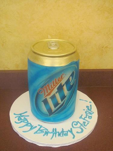 #MillerLite #Beer #cake