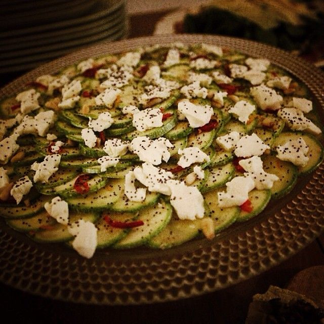 courgette carpaccio from one of our events... :) #yummy www.bytesizecatering.com