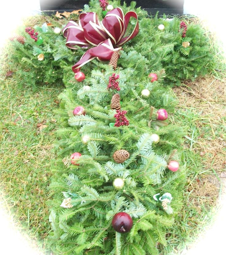 blanket cemetery sprays for christmas - Christmas Grave Decorations