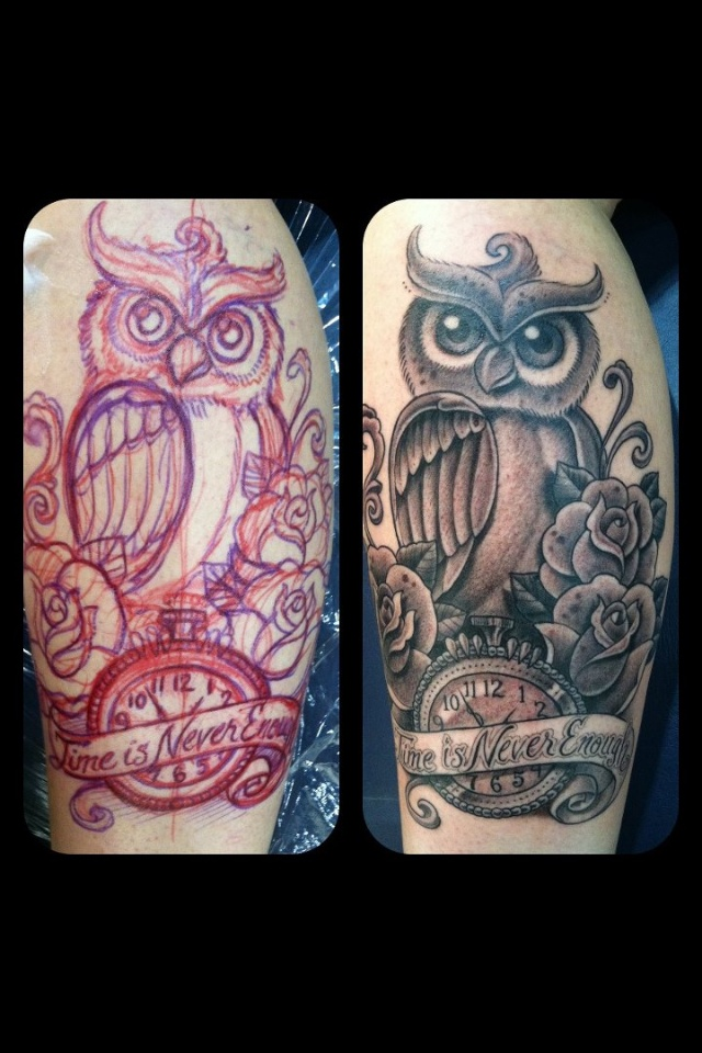 Corey Miller Tattoo. Free handed... No stencil.