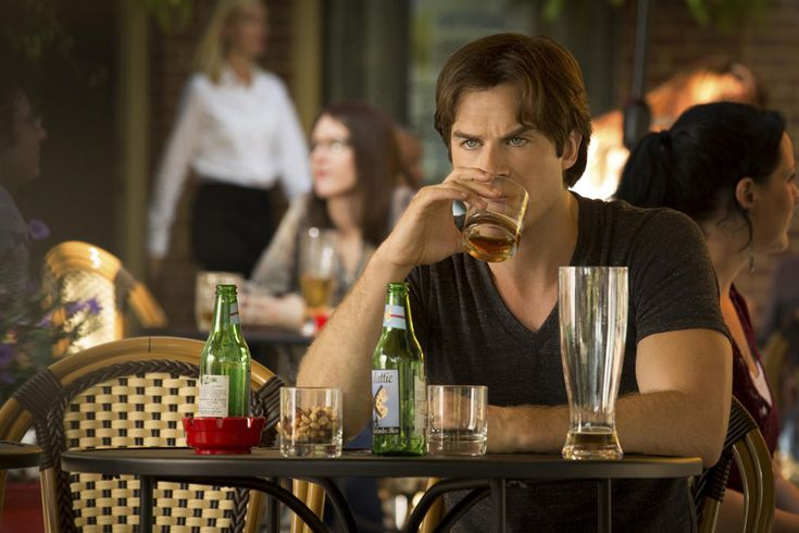 Exclusive Vampire Diaries First Look: Damon Drinks Solo While the Heretics Wreak Havoc