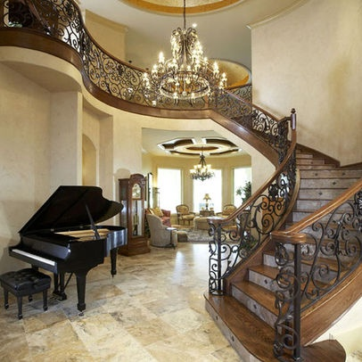 Luxury staircases custom finished staircases pinterest for Luxury staircase
