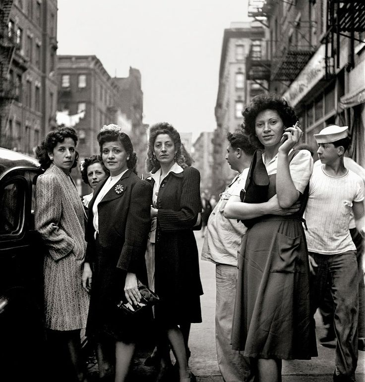 For our real life gallery, Little Italy, New York City, 1943, photo by Fred Stein