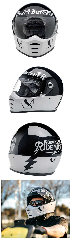 Biltwell Lane Splitter Helmet - Rusty Butcher Edition