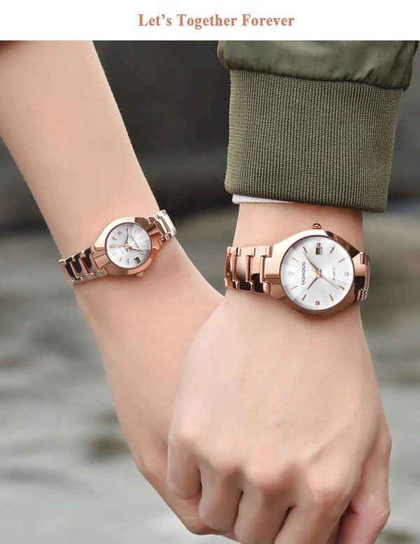 Partner Couple Watches Valentines Romantic Couple Watches His And Hers Quartz Analog Wrist Watches Gifts In 2020 Beautiful Mens Watches Couple Watches Set Couple Watch