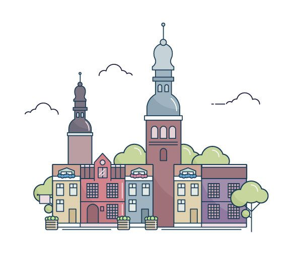 How to Create a Line Art City Landscape in Adobe Illustrator ...
