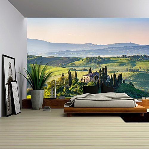 Spring Landscape, Mural Ideas, Tuscany Italy, Wall Murals, Painted Walls,  Photo Walls, Decals, Bedroom Ideas, Rooftops Part 98
