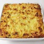 Bagt kartoffelmos – soltørret tomat og ost