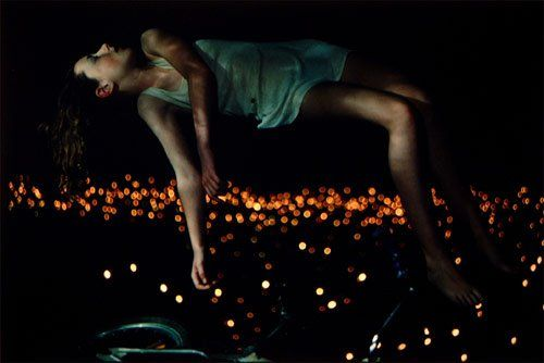"""Floating above glittering lights. Bill Henson, """"Untitled"""" from Lux et Nox, 1995-1996."""