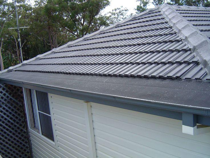 Tile Roof Restoration & Gutter Guard - Charcoal