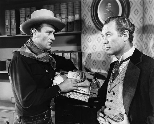 """Tall in the Saddle"" (1944) - John Wayne & Ward Bond - Directed by Edward Marin - RKO Pictures."