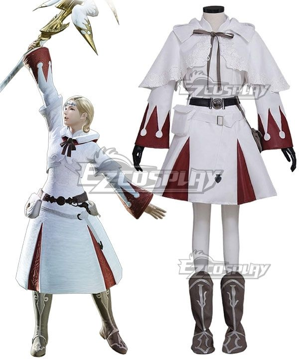 NEW Final Fantasy Tactics White Mage Boots Cosplay shoes Custom Made