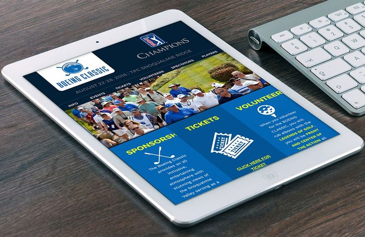 mobile golf tournament website for the boeing classic pga tournament | zeekee