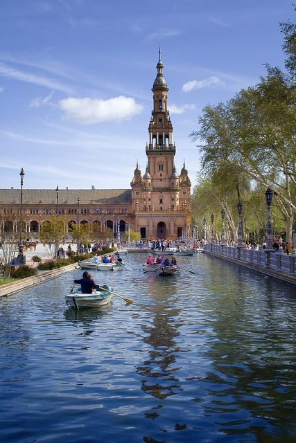 "Seville, Spain.  The crown of Imperial Spain is one of our favorite cities from the list ""Top 50 Cities to Visit Before You Die"" for its Moorish castles and medieval sites...  Who's Yours?"