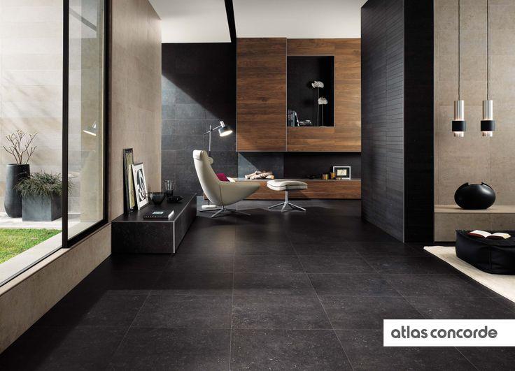 #SEASTONE black and greige | #AtlasConcorde | #Tiles | #Ceramic | #PorcelainTiles