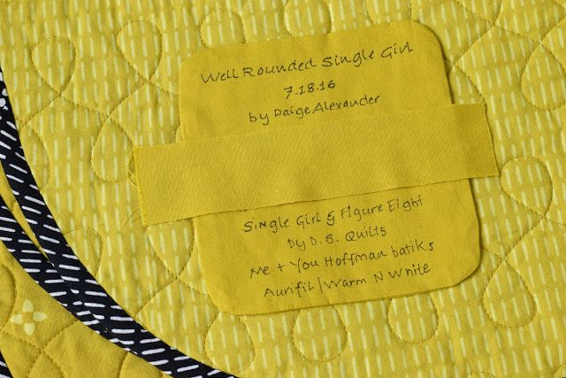 Last month during the Instagram Quilt Fest (#IGQuiltFest) sponsored by @AmysCreativeSide I showed a handwritten quilt label when the prompt for the day was quilt labels. Linda at Flourishing Palms co