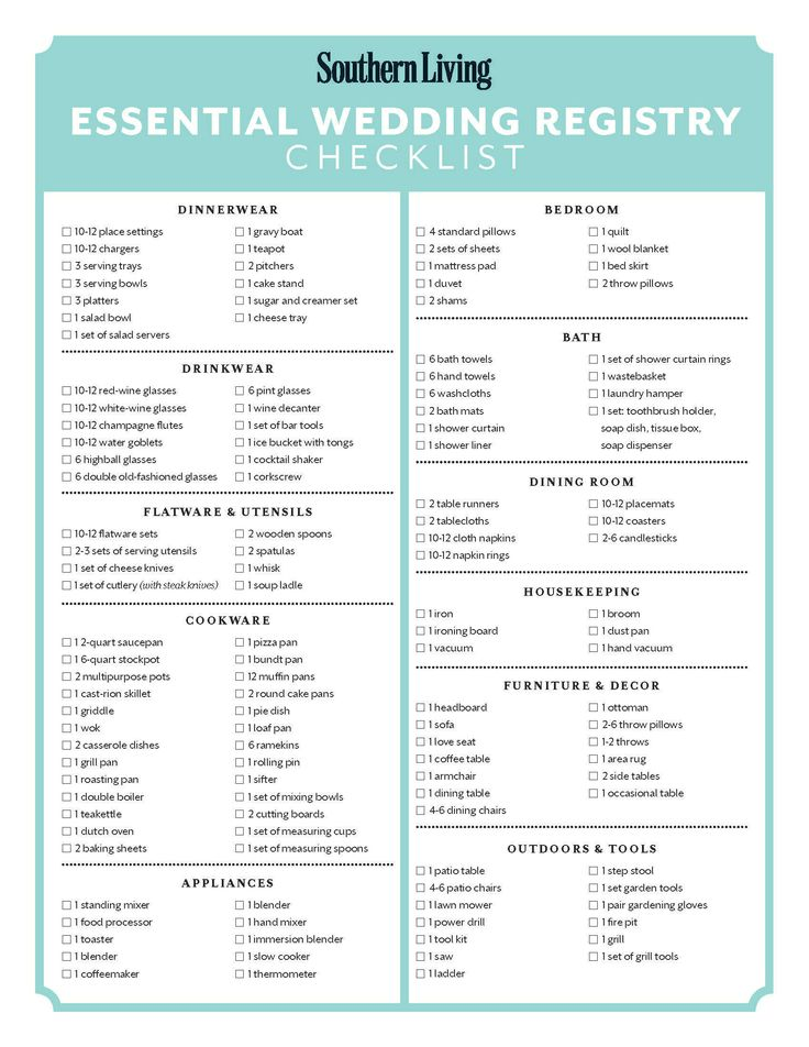 Bridal registry ideas mini bridal for Popular wedding registry locations