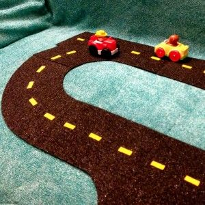 Pinterest Projects: Felt Road Set (Tutorial and Free Pattern!)