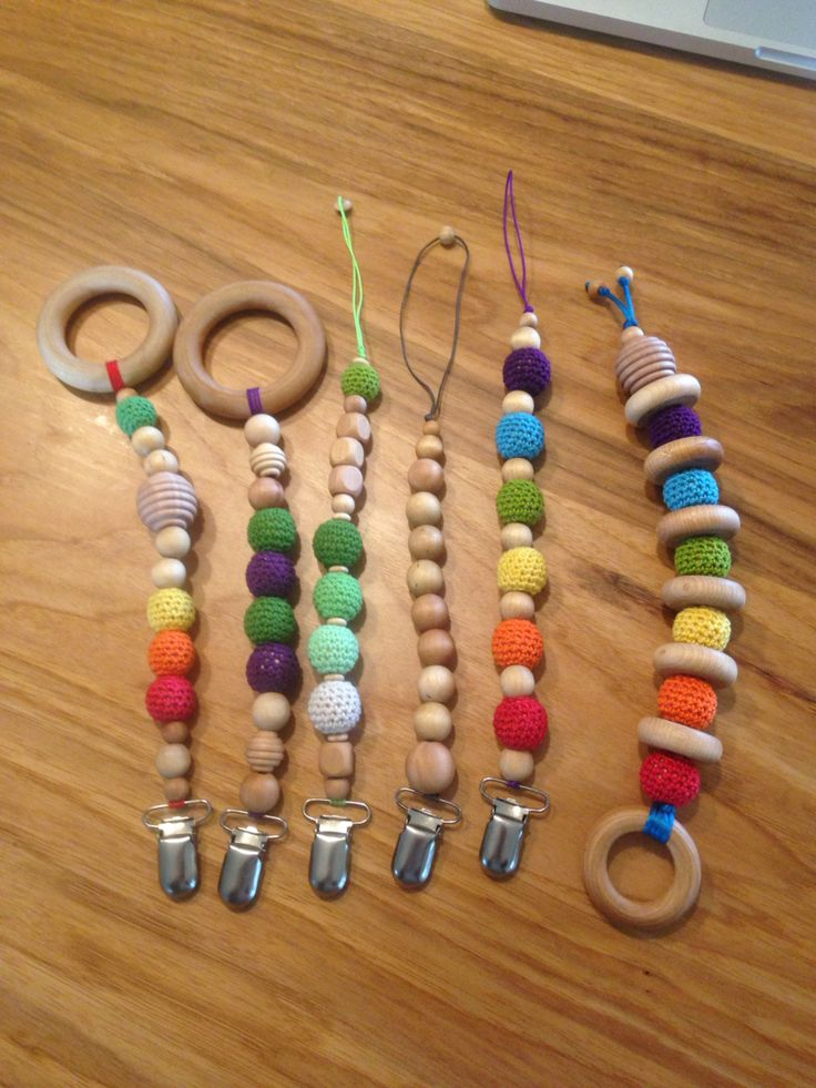 New pacifier clips and clip on teethers, teething toys, teething, natural toy, baby