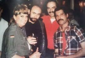 Barbara Valentin and Freddie's german lover Winnie Kirchberger (behind Freddie)