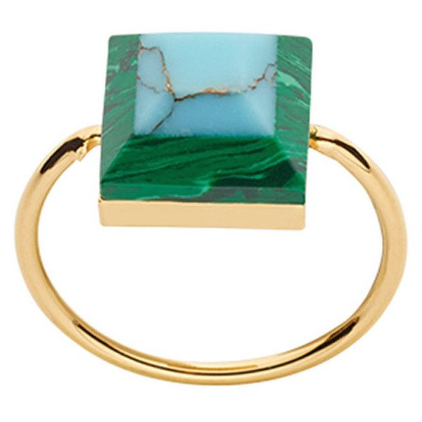 e2b92689880b Fendi Rainbow two-tone ring ( 260) ❤ liked on Polyvore featuring jewelry