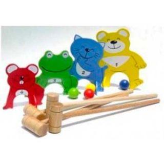 Pin Toys Κροκέ 4 φίλοι ζωάκια σε σάκο