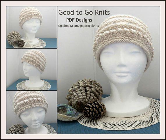 Knitting Pattern  Beanie  PDF Download