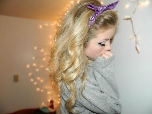 bandana hairstyles | Curly Hair Purple Bandana Hairstyles And Beauty Tips