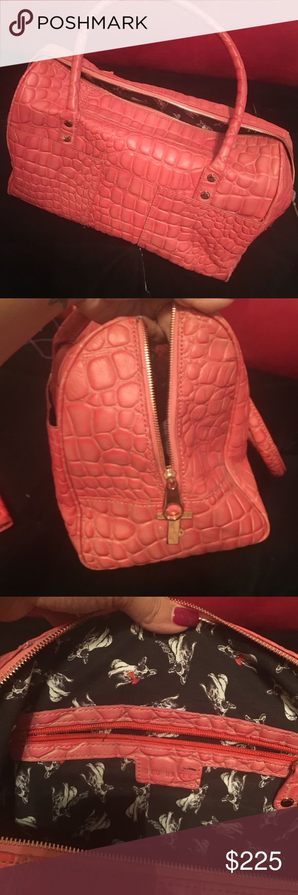 Authentic ted baker handbag Used like new handbag. Worn only a few time. Beautiful peachy color. Authentic ted baker bag, matching wallet also available and sold separately Baker by Ted Baker Bags